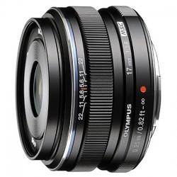 Olympus M. Zuiko 17mm F1.8 zwart