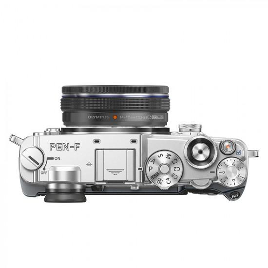 Olympus PEN-F zilver + 14-42mm EZ