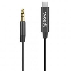 Boya Universele Adapter BY-K2 3,5mm TRS naar USB-C