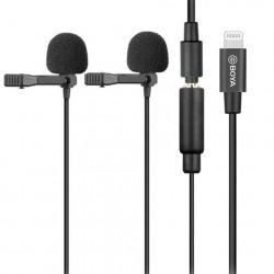 Boya Duo Clip-on Lavalier Microfoon BY-M2D voor iOS