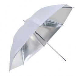 Falcon Eyes Flitsparaplu UR-60S Zilver/Wit 152 cm