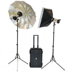 Falcon Eyes Studioflitsset Satel One Kit op Accu