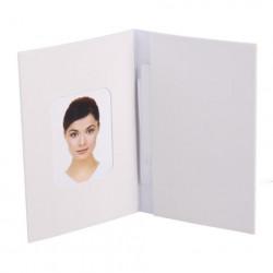 Pasfotomapjes blanco Wit 500 St.