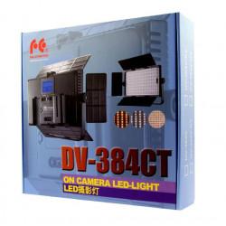 Falcon Eyes Bi-Color LED Lamp Set Dimbaar DV-384CT-K2 incl. Accu