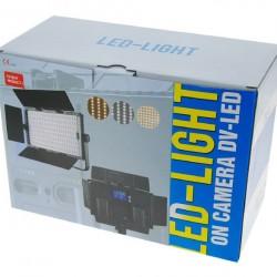 Falcon Eyes Bi-Color LED Lamp Set Dimbaar DV-605CT-K2 incl. Accu