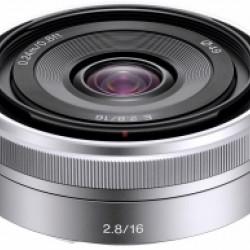Sony NEX E-16 mm 2.8 zilver