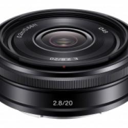 Sony NEX E-20mm F2.8 zwart
